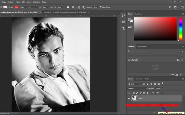 photoshopta fotoğraf renklendirme