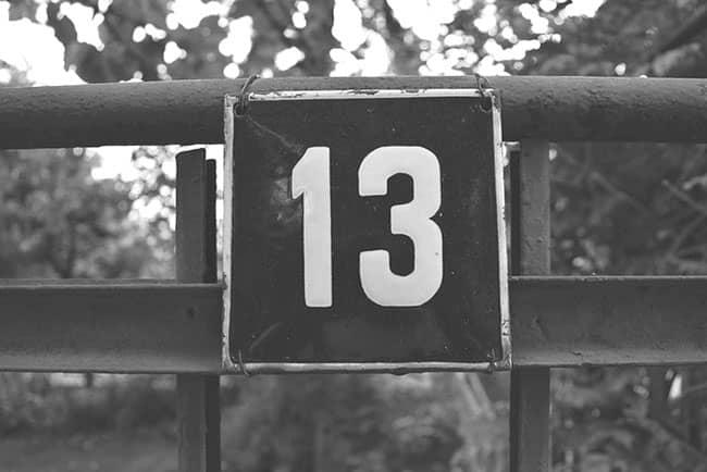13 sayısının uğursuzluğu