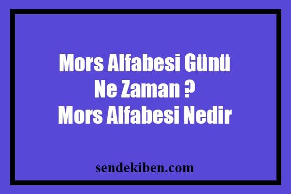 mors alfabesi günü