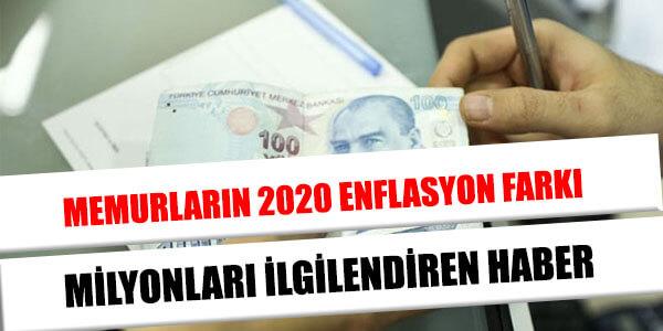 memur enflasyon farkı 2020