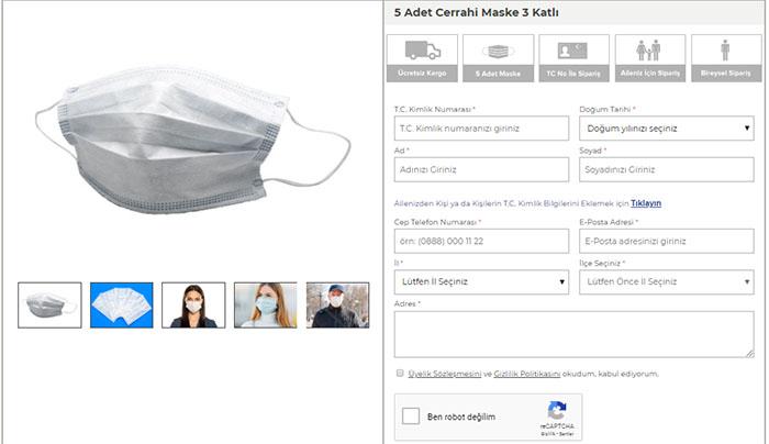 ptt ücretsiz maske