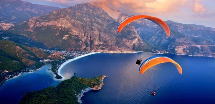 istanbul'da yamaç paraşütü yapılan yerler