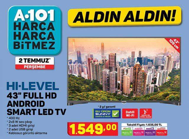 A101 hi level 43 inç televizyon inceleme
