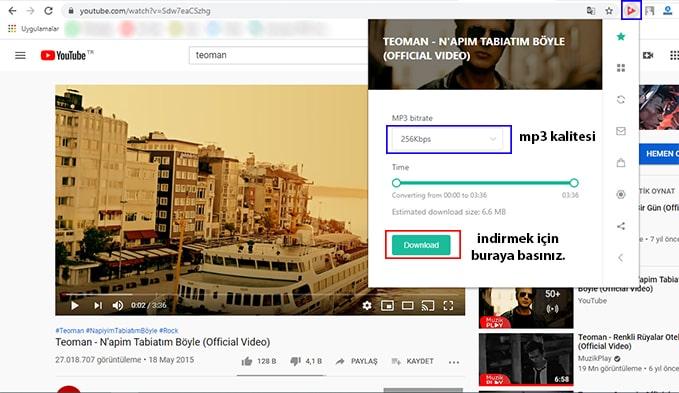 youtube mp3 indirme eklentisi opera