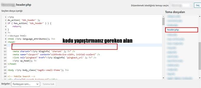 html kodu ile google site ekleme