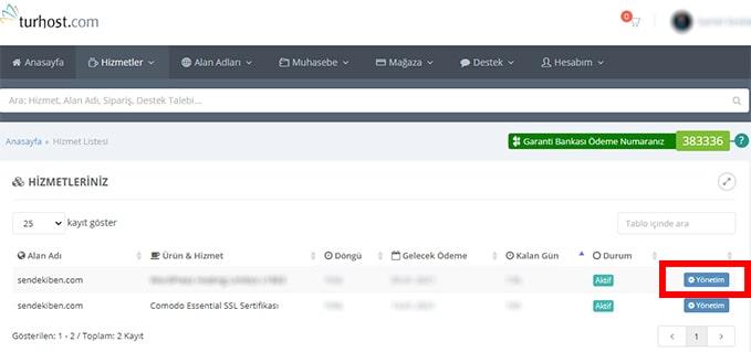 Turhost PHP güncelleme