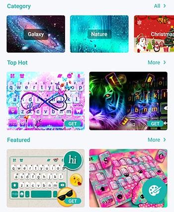 şekilli android klavye uygulaması