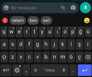 en sade android klavye uygulaması
